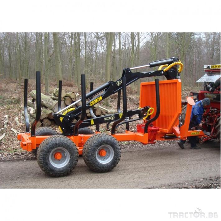 Машини за дърводобив PALMS ремарке за трупи с кран и ротатор 8 - Трактор БГ