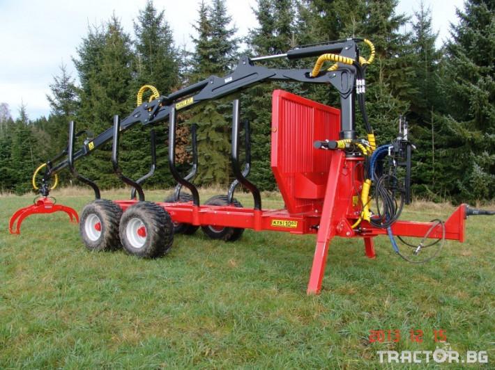 Машини за дърводобив PALMS ремарке за трупи с кран и ротатор 9 - Трактор БГ