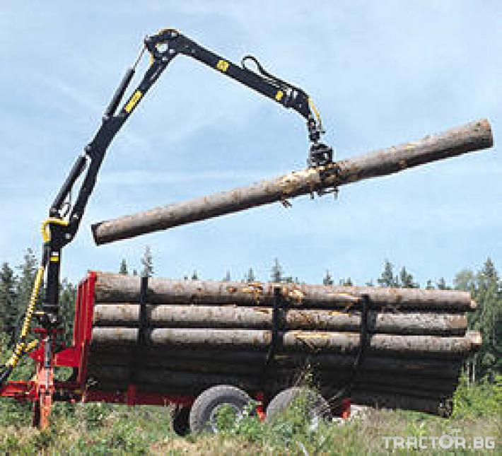 Машини за дърводобив PALMS ремарке за трупи с кран и ротатор 10 - Трактор БГ