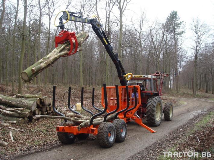 Машини за дърводобив PALMS ремарке за трупи с кран и ротатор 18 - Трактор БГ
