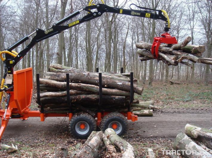 Машини за дърводобив PALMS ремарке за трупи с кран и ротатор 22 - Трактор БГ