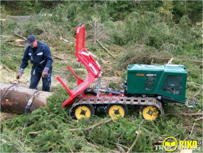 Машини за дърводобив Горски трактор за извоз на дървесина MK18 железен кон 8