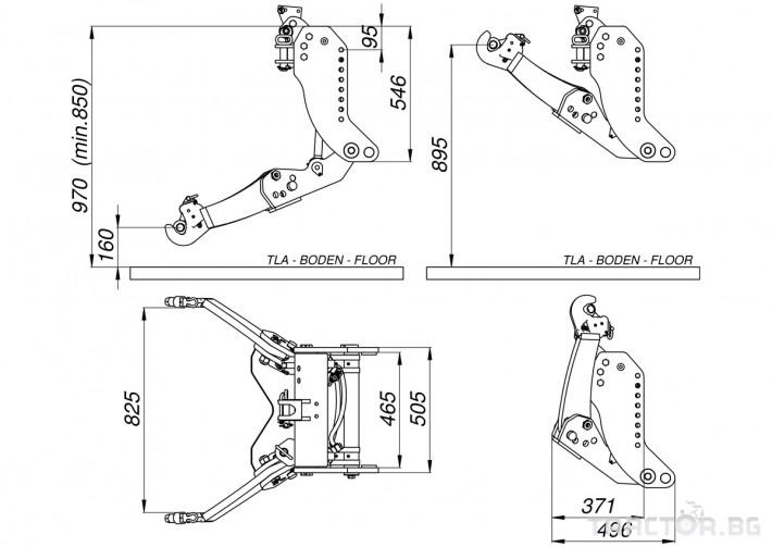Части за трактори LESNIK Предни навесни системи за всички модели трактори и камиони 4