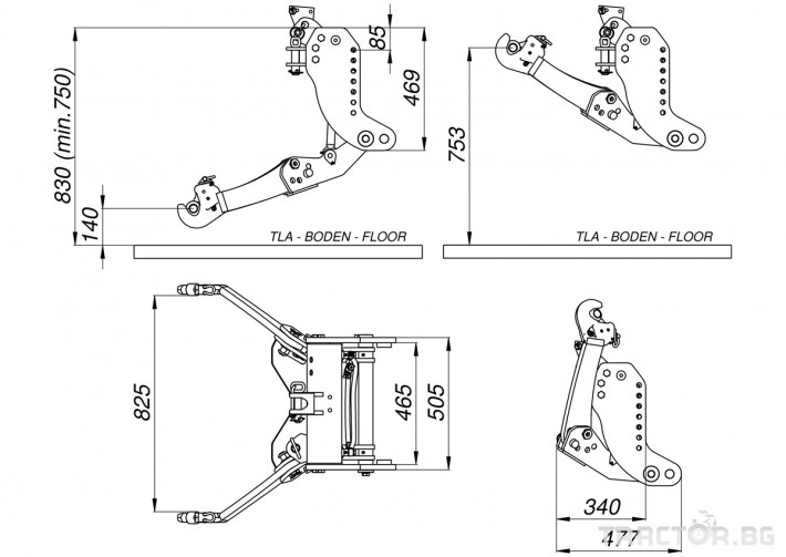 Части за трактори LESNIK Предни навесни системи за всички модели трактори и камиони 36
