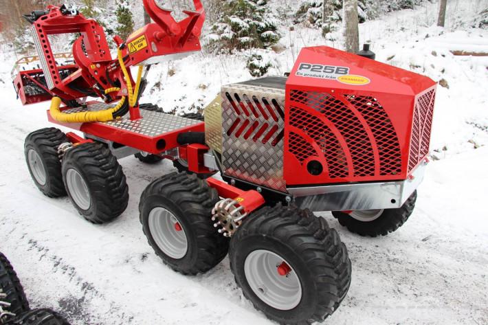Машини за дърводобив Kranman P25 самоходен процесор за изкастряне на иглолистна целулоза 6 - Трактор БГ