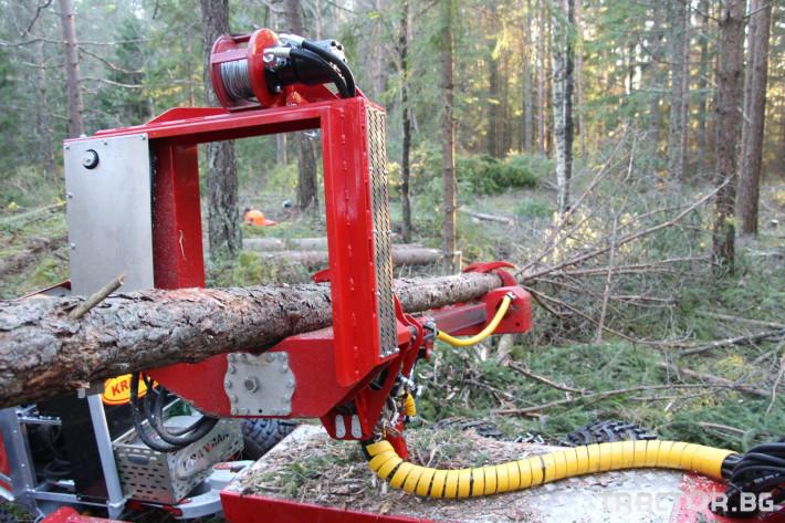 Машини за дърводобив Kranman P25 самоходен процесор за изкастряне на иглолистна целулоза 8 - Трактор БГ