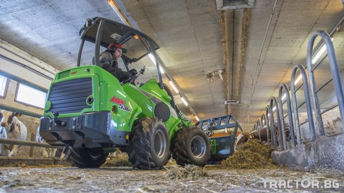 Телескопични товарачи Мини челен товарач AVANT 528 Optidrive 27 - Трактор БГ