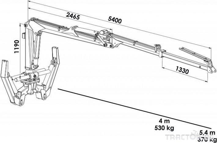 Машини за дърводобив PALMS ремарке за трупи с кран и ротатор 2 - Трактор БГ