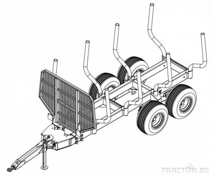 Машини за дърводобив PALMS ремарке за трупи с кран и ротатор 6 - Трактор БГ