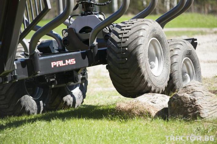 Машини за дърводобив PALMS ремарке за трупи с кран и ротатор 25 - Трактор БГ