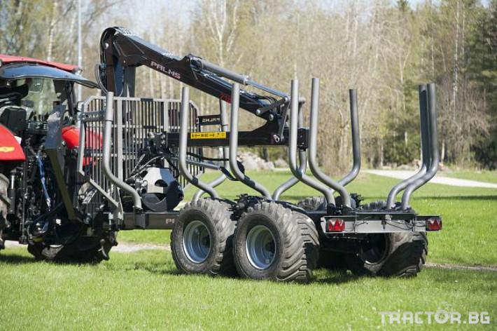 Машини за дърводобив PALMS ремарке за трупи с кран и ротатор 0 - Трактор БГ