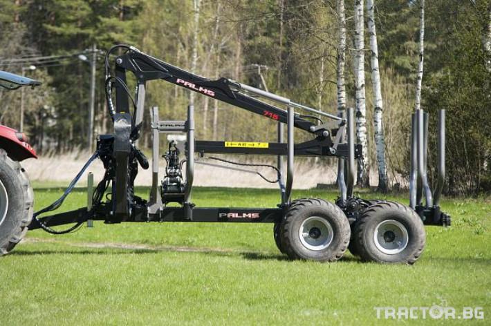 Машини за дърводобив PALMS ремарке за трупи с кран и ротатор 26 - Трактор БГ