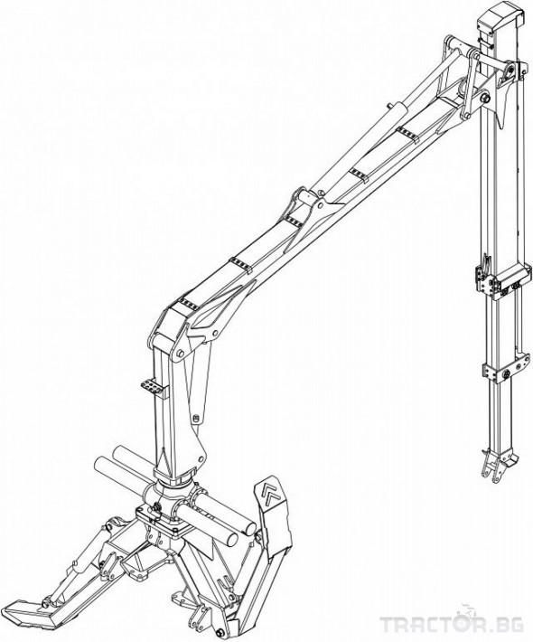 Машини за дърводобив Кран за дърва PALMS за трактор 29 - Трактор БГ