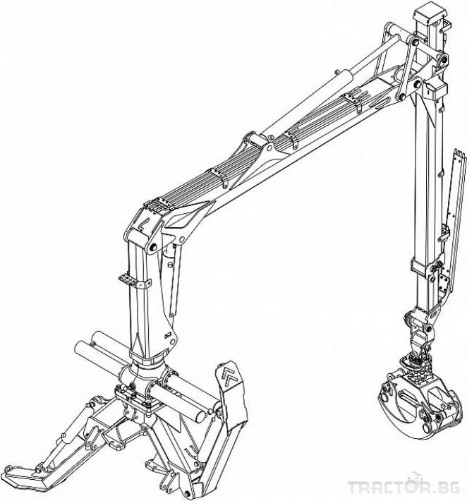 Машини за дърводобив Кран за дърва PALMS за трактор 33 - Трактор БГ