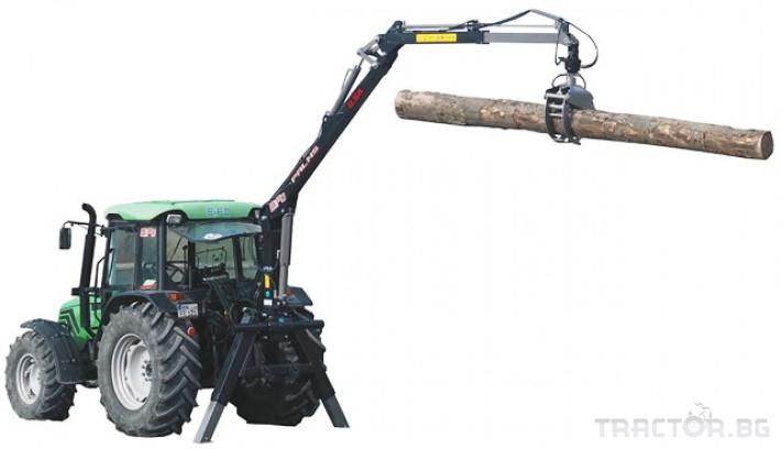 Машини за дърводобив Кран за дърва PALMS за трактор 1 - Трактор БГ