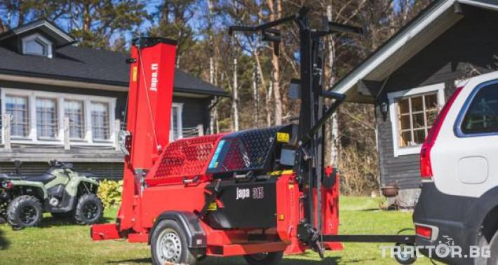 Машини за дърводобив JAPA мобилни машини за рязане и цепене на дърва 14 - Трактор БГ
