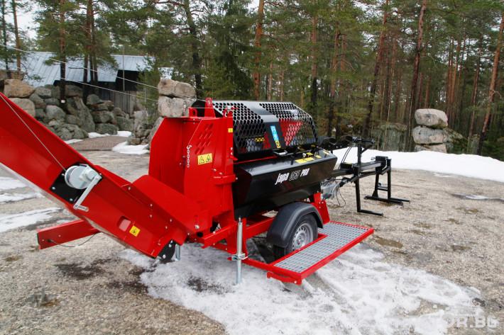 Машини за дърводобив JAPA 365 PRO мобилна машина за рязане и цепене на дърва 4 - Трактор БГ