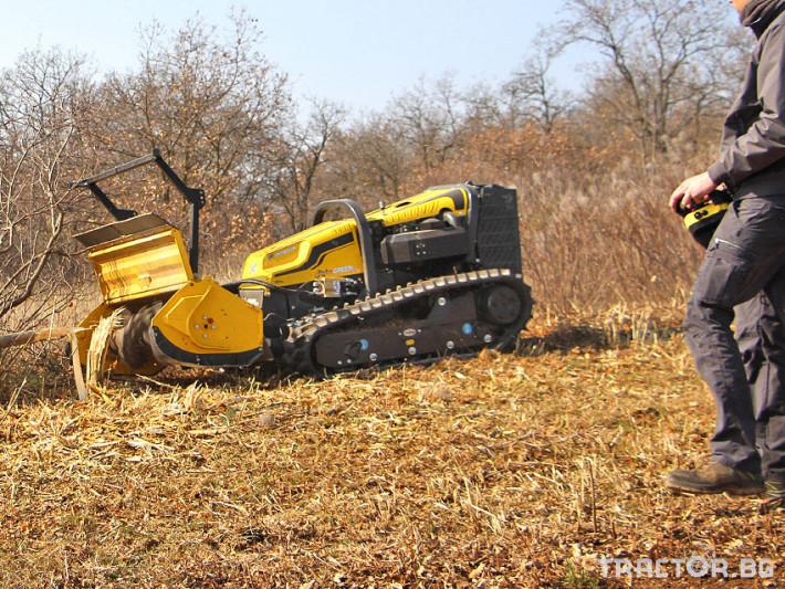Мулчери мулчер - друг ENERGREEN Robo - самоходен верижен горски мулчер с дистанционно 2 - Трактор БГ