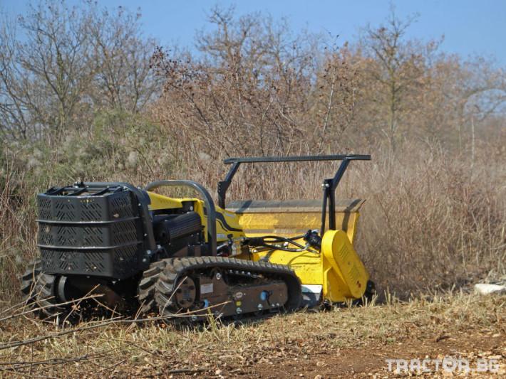 Мулчери мулчер - друг ENERGREEN Robo - самоходен верижен горски мулчер с дистанционно 3 - Трактор БГ