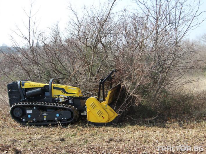 Мулчери мулчер - друг ENERGREEN Robo - самоходен верижен горски мулчер с дистанционно 4 - Трактор БГ