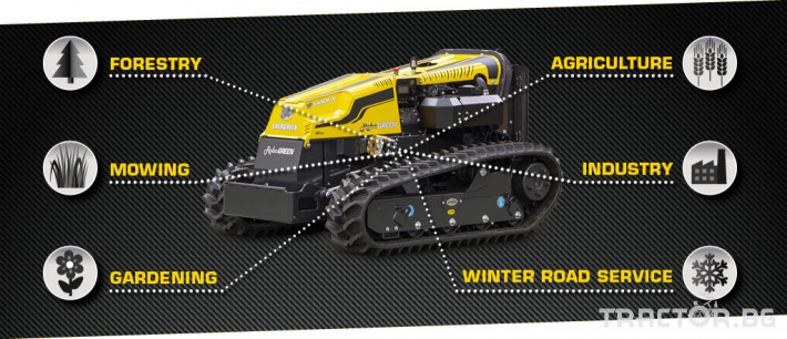 Мулчери мулчер - друг ENERGREEN Robo - самоходен верижен горски мулчер с дистанционно 5 - Трактор БГ