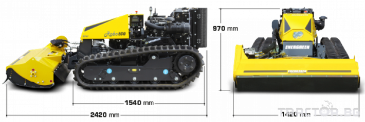 Мулчери мулчер - друг ENERGREEN Robo - самоходен верижен горски мулчер с дистанционно 7 - Трактор БГ