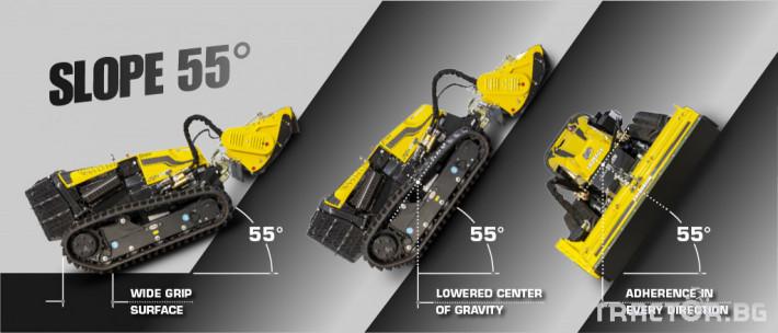 Мулчери мулчер - друг ENERGREEN Robo - самоходен верижен горски мулчер с дистанционно 10 - Трактор БГ