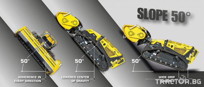 Мулчери мулчер - друг ENERGREEN Robo - самоходен верижен горски мулчер с дистанционно 12 - Трактор БГ
