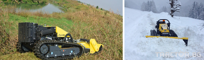 Мулчери мулчер - друг ENERGREEN Robo - самоходен верижен горски мулчер с дистанционно 14 - Трактор БГ