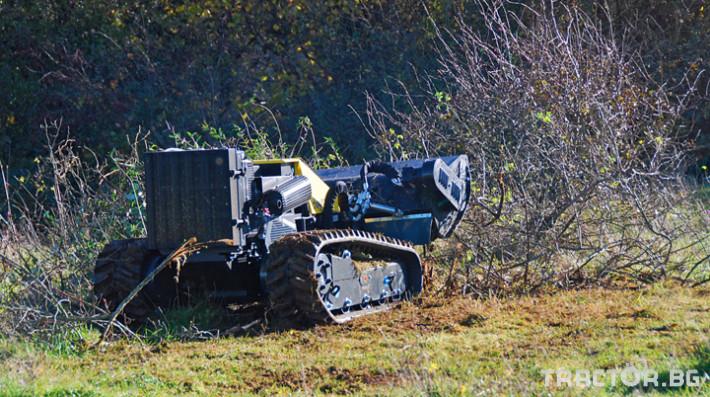 Мулчери мулчер - друг ENERGREEN Robo - самоходен верижен горски мулчер с дистанционно 15 - Трактор БГ